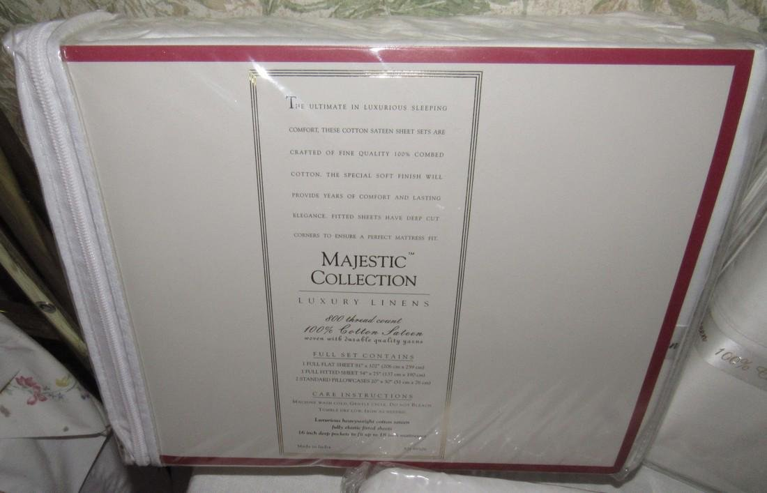 Majestic Collection Full Sheet Sets & Bed Skirt - 2