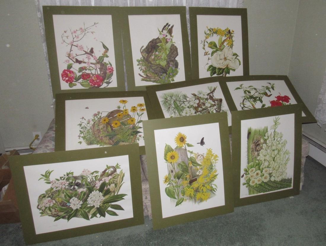18 Franklin Mint Jean Holgate Signed Prints