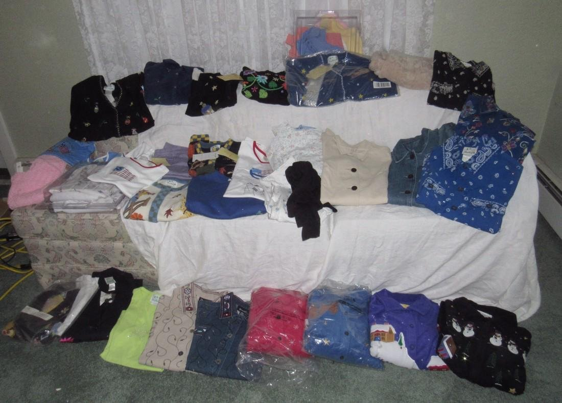 Large Lot of QVC Clothing Croft & Barrow Denim & Co