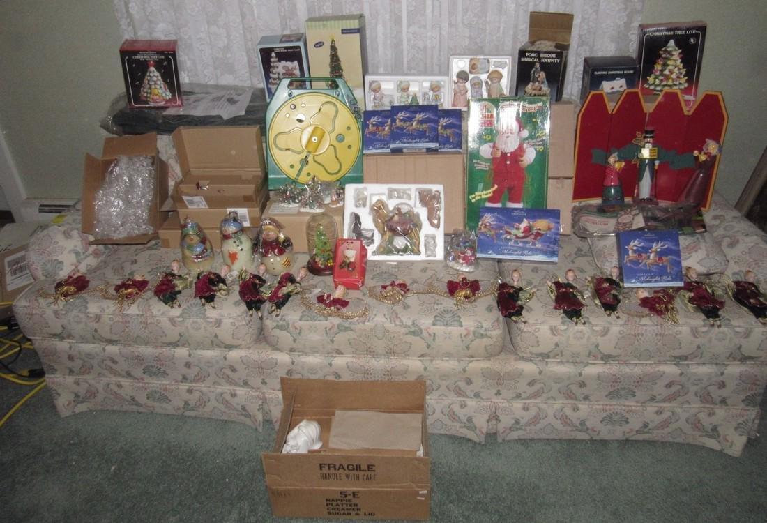 Large Lot of Christmas Trees Ornaments Keepsake