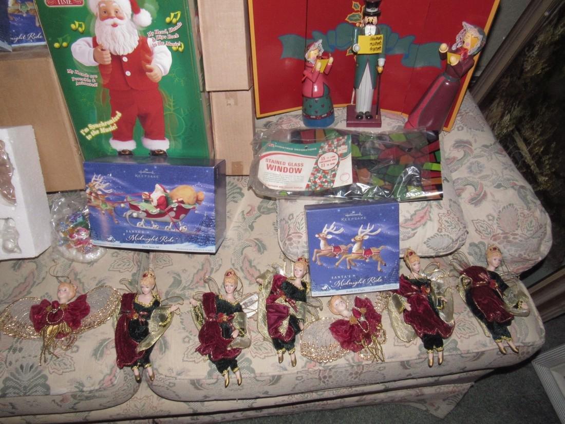 Large Lot of Christmas Trees Ornaments Keepsake - 3