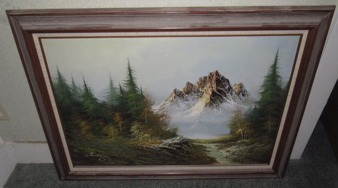 Outdoor Landscape Oil On Canvas Painting