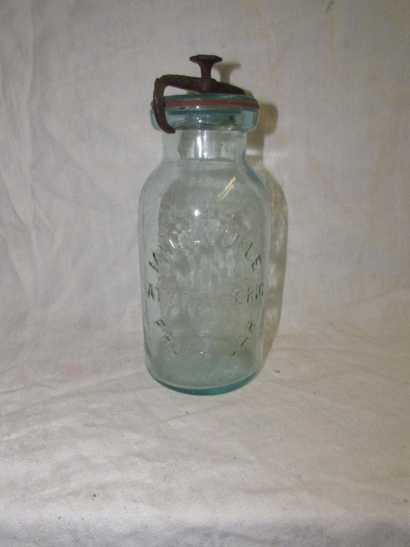 Millville Atmospheric Fruit Jar Whitall's Patent 1861