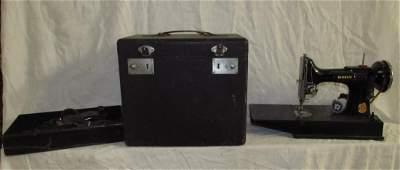 Singer Featherweight Sewing Machine & Button Holer
