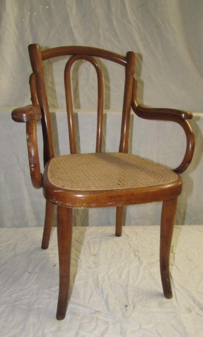 Childs Bentwood Arm Chair w/ Cane Seat