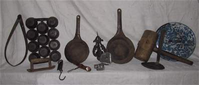 Cast Iron Muffin Pan Cookie Cutters Wood Mallet