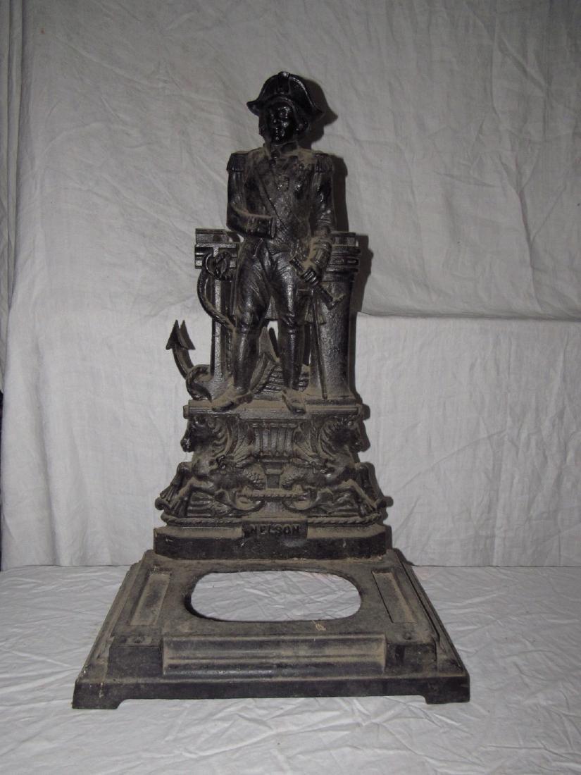 Cast Iron Nelson Figural Umbrella Stand