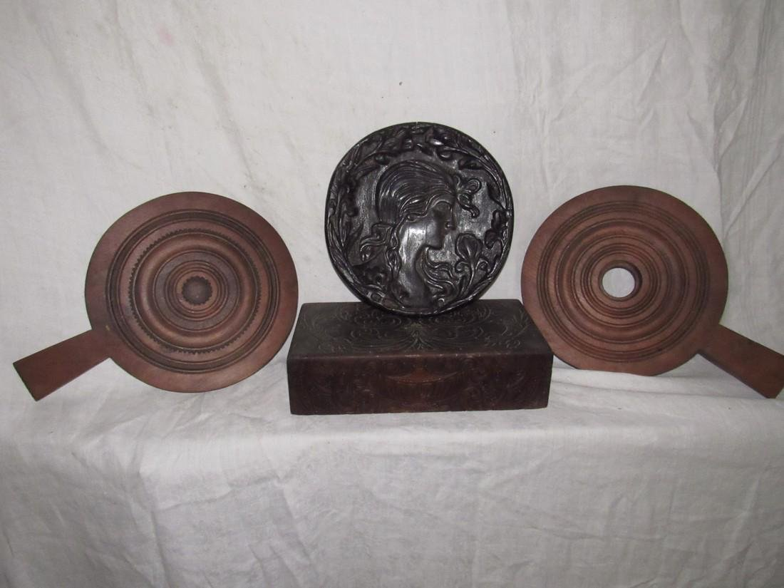 Wood Carving Wall Hanging Box and Bellows