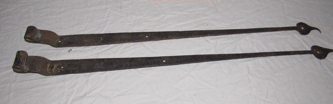 2 Wrought Iron Hinges