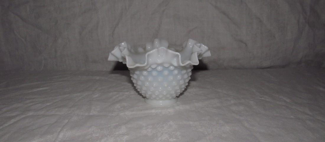 Fenton Opalescent Hobnail Bowl