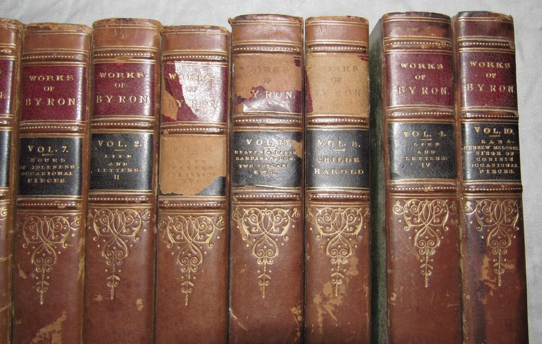 10 The Works of Lord Byron Books 1832 - 3