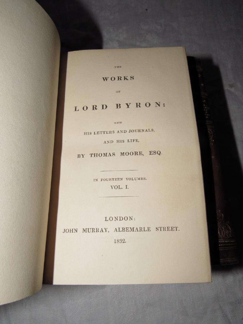 10 The Works of Lord Byron Books 1832 - 5