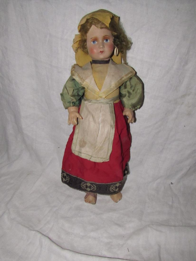 "Early 19"" Composition Doll"