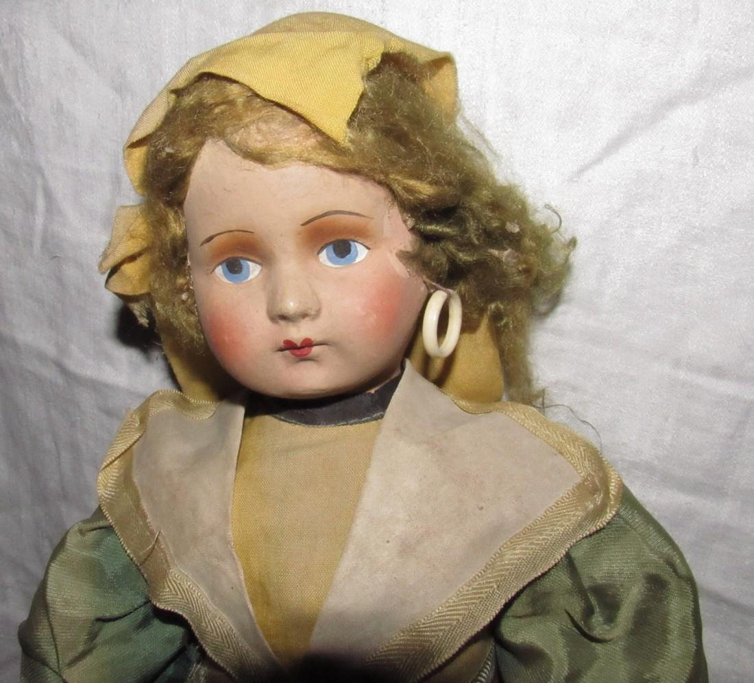 "Early 19"" Composition Doll - 2"