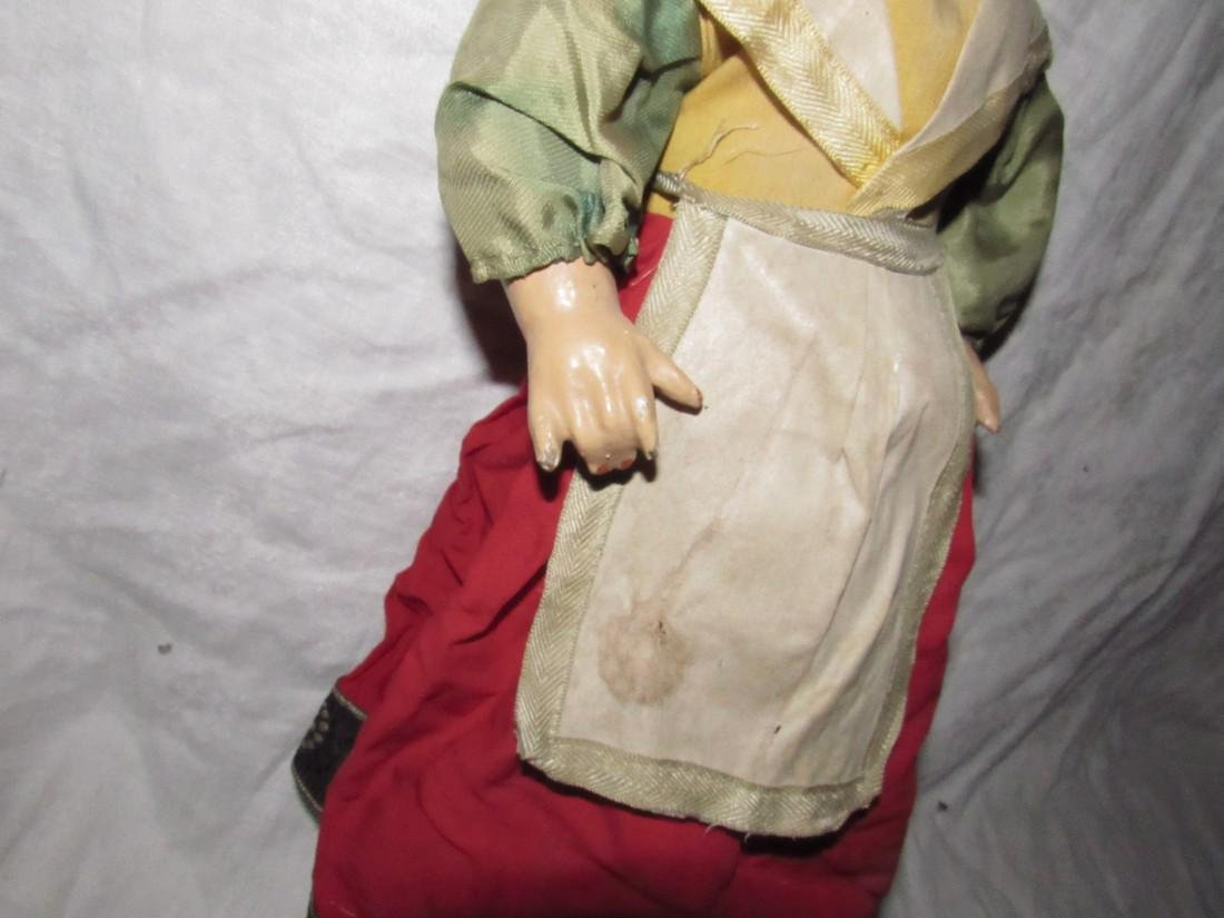 "Early 19"" Composition Doll - 3"