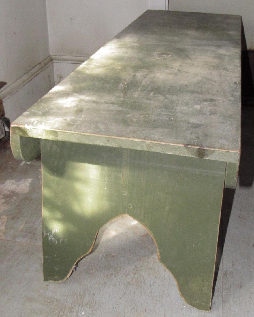 Green Painted Bench - 2