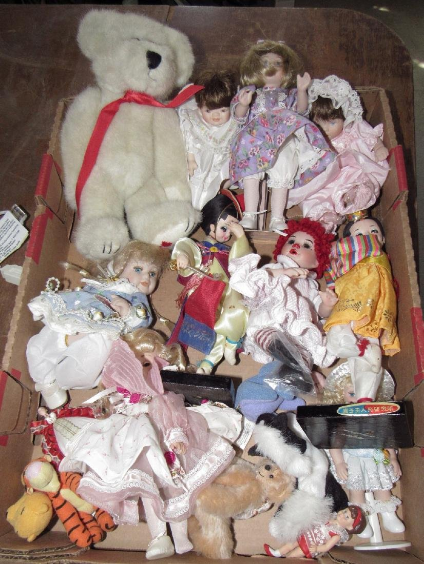 Box Full of Misc Dolls