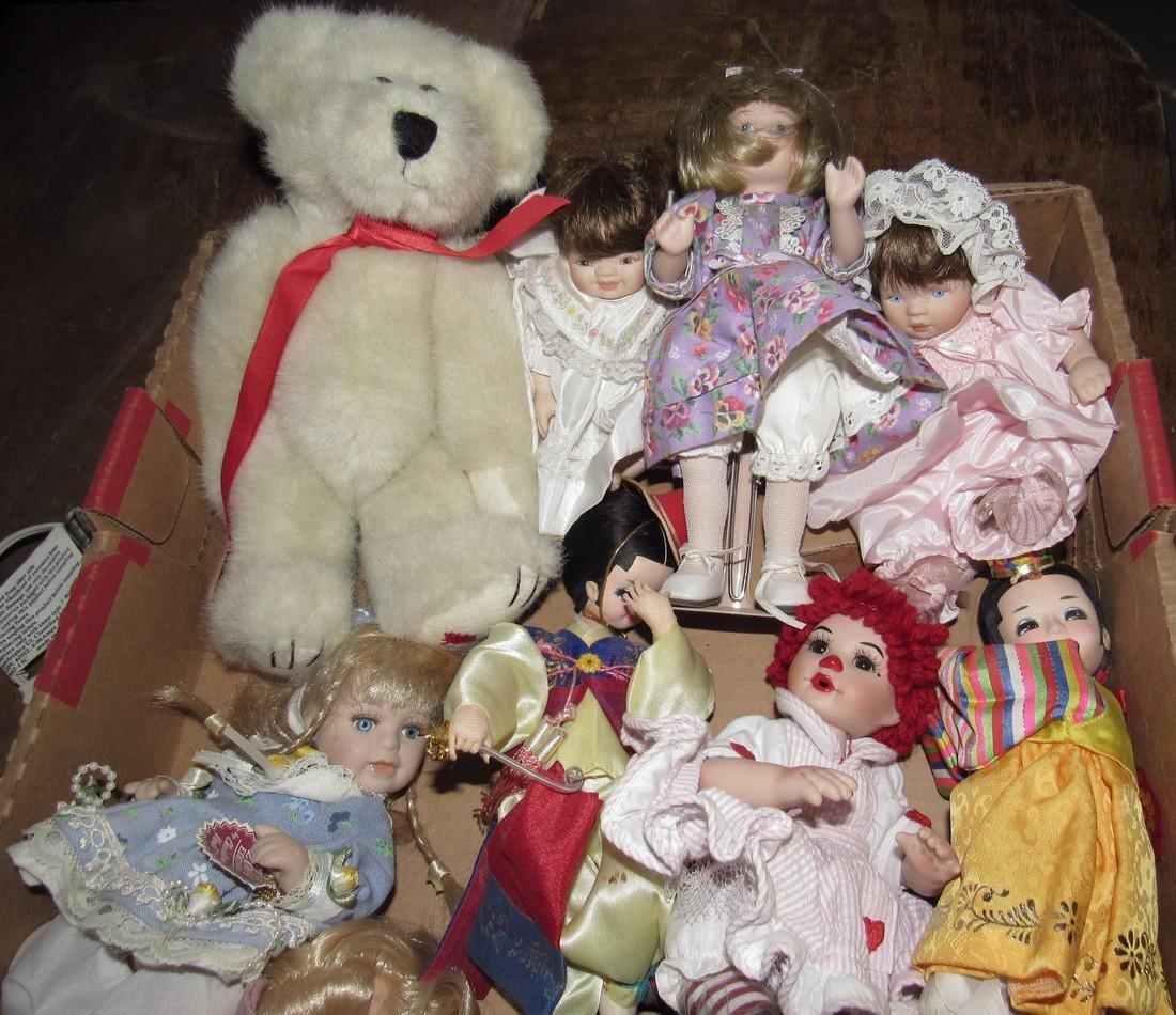 Box Full of Misc Dolls - 2