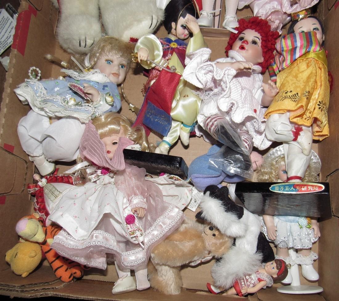 Box Full of Misc Dolls - 3