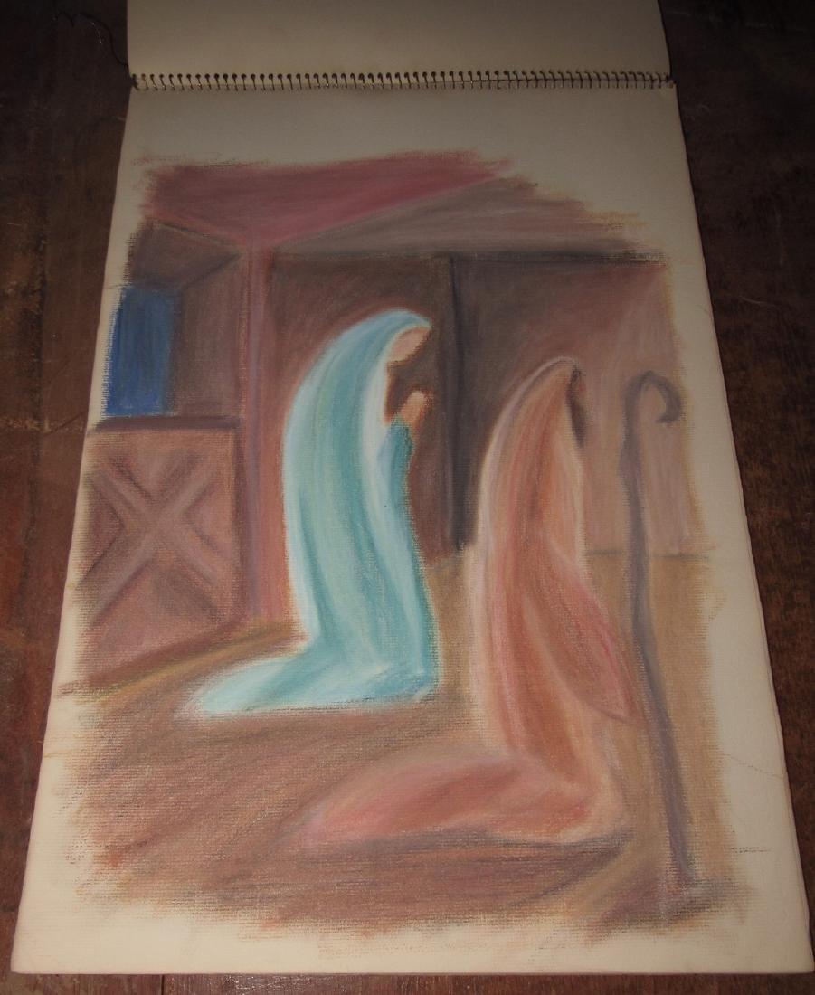 Pastel Drawings - 4