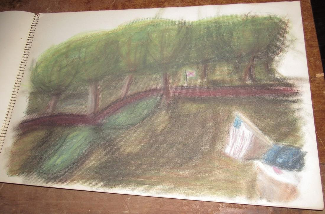 Pastel Drawings - 5