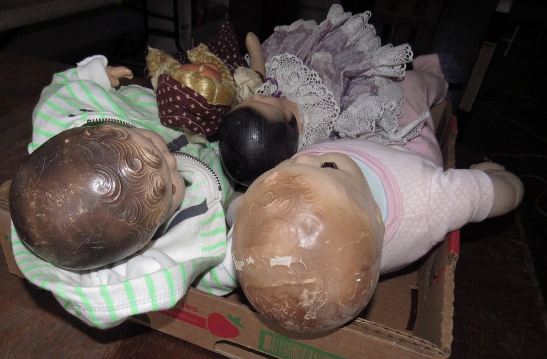 4 Antique / Vintage Dolls - 3