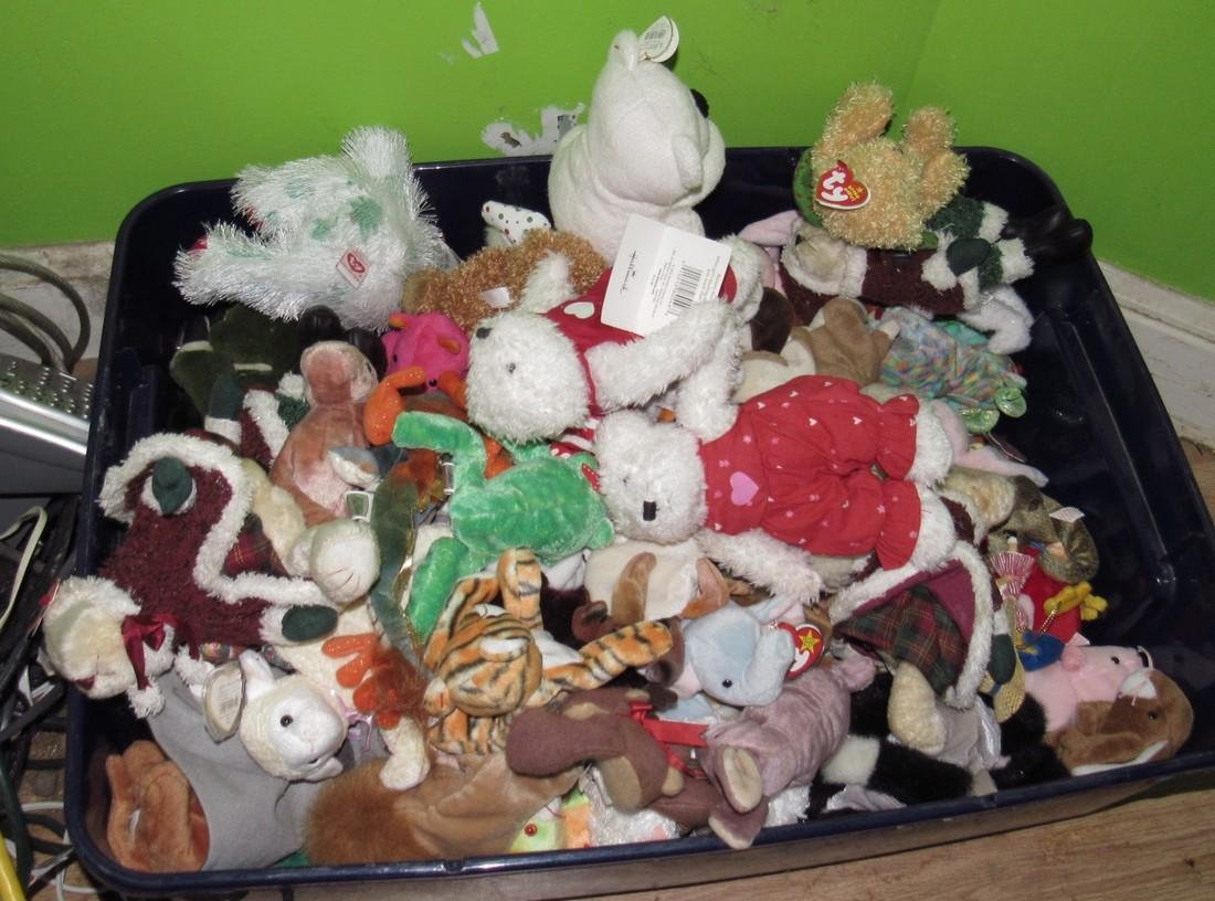 Tub of Ty Beanie Babies