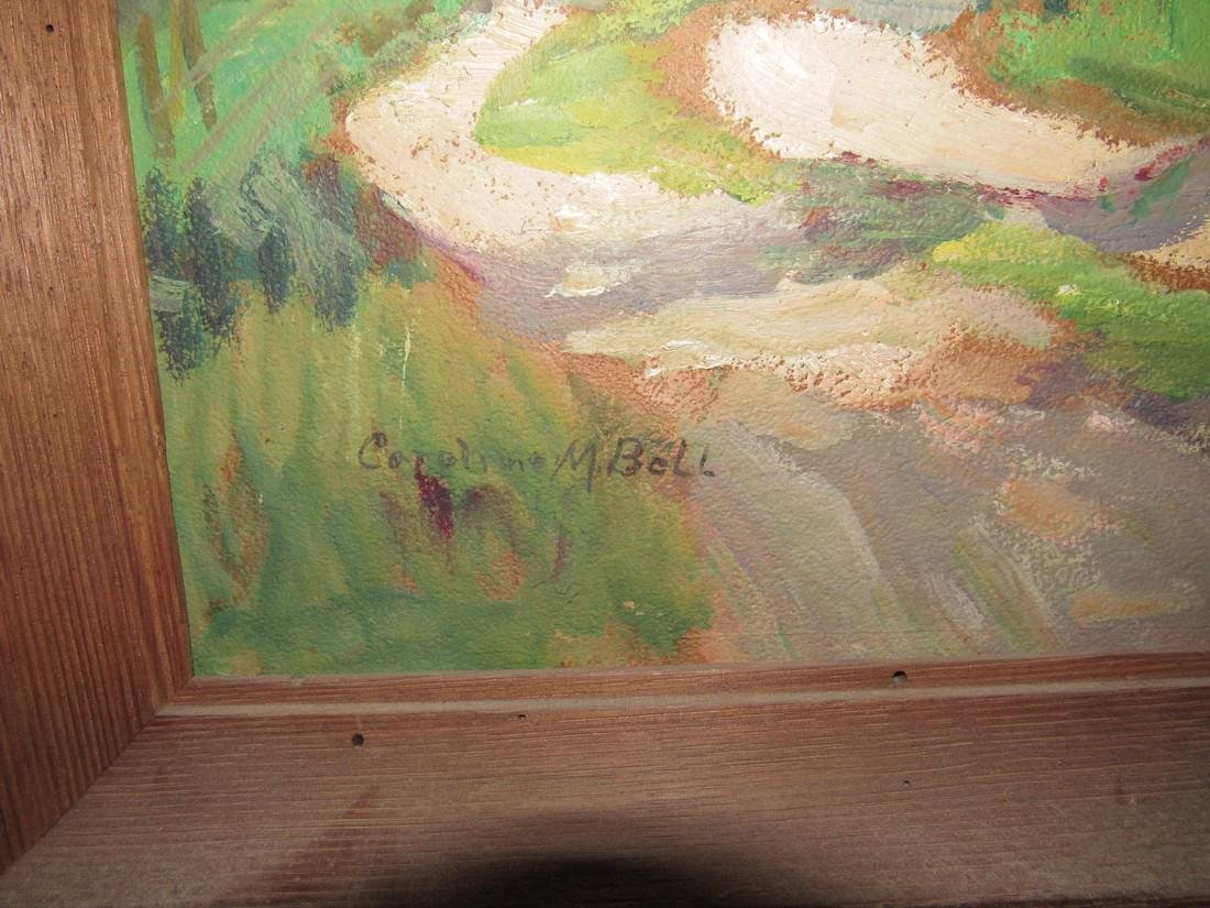 Caroline M. Bell Oil Painting on Board Landscape - 2