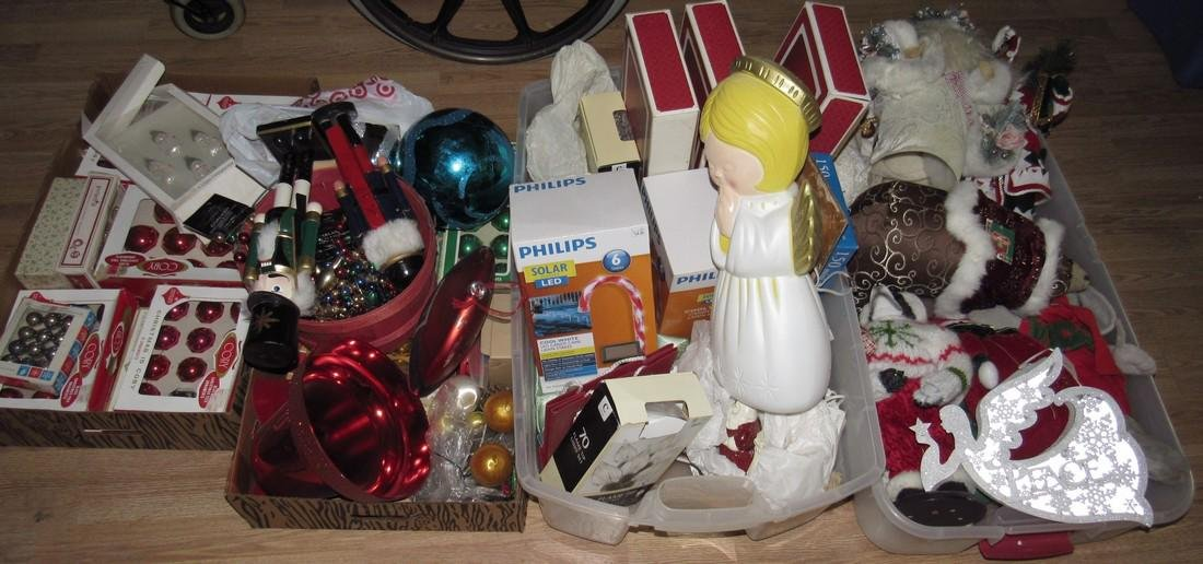 4 Boxes of Vintage Christmas Ornaments