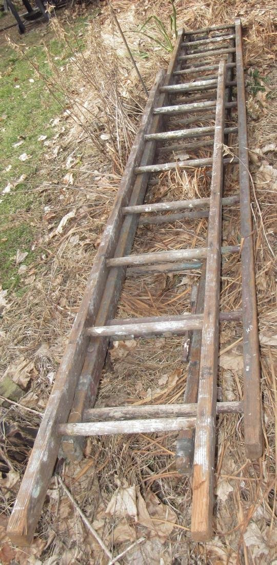 Wooden Extension Ladders - 2