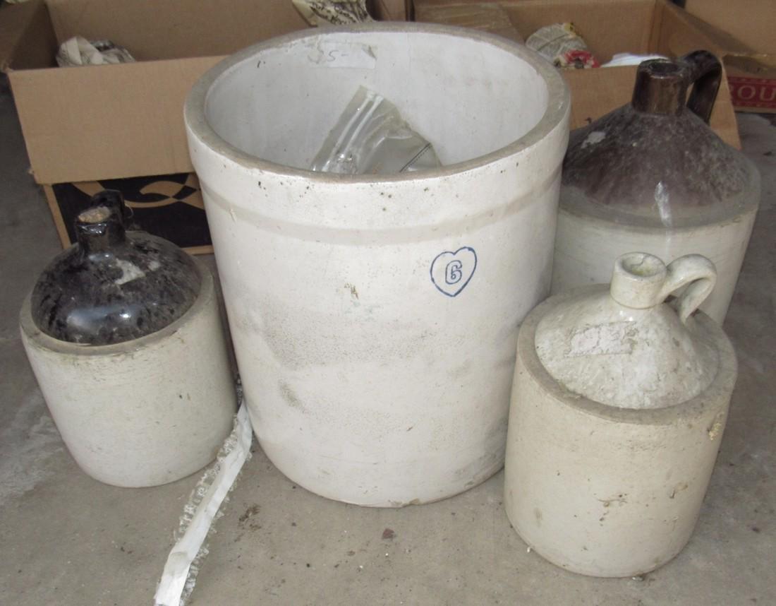 Stoneware Crock & Jugs