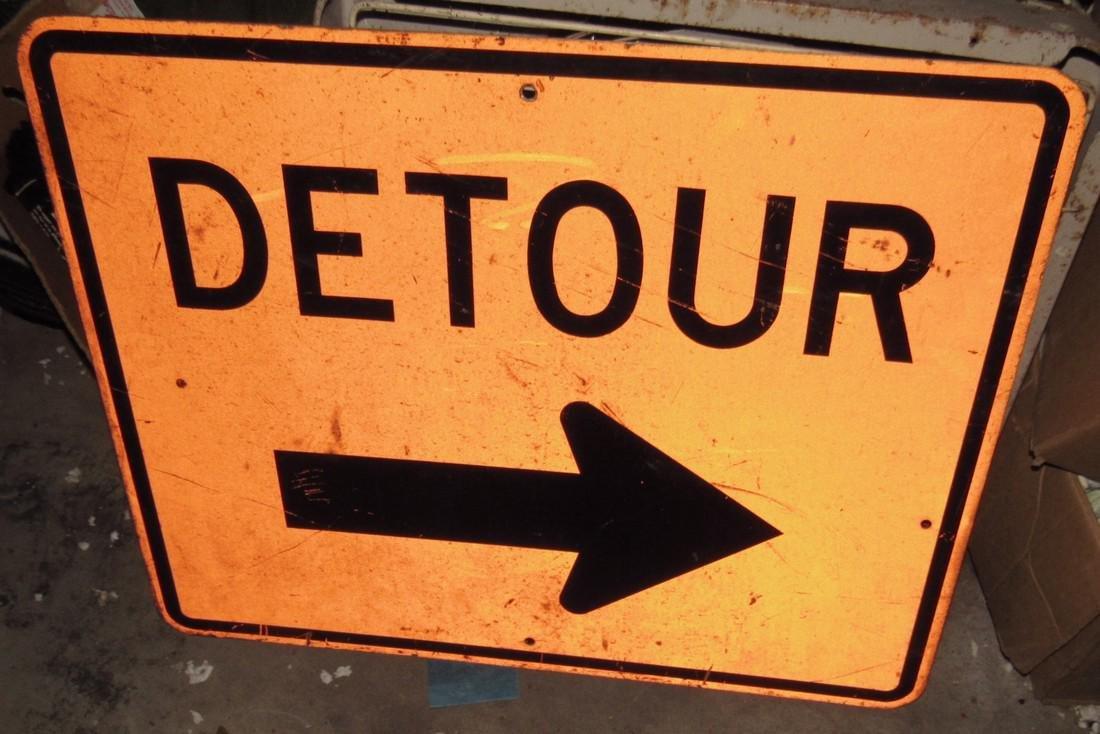 Aluminum Detour Sign