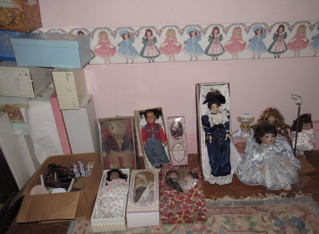 Large Lot of Dolls