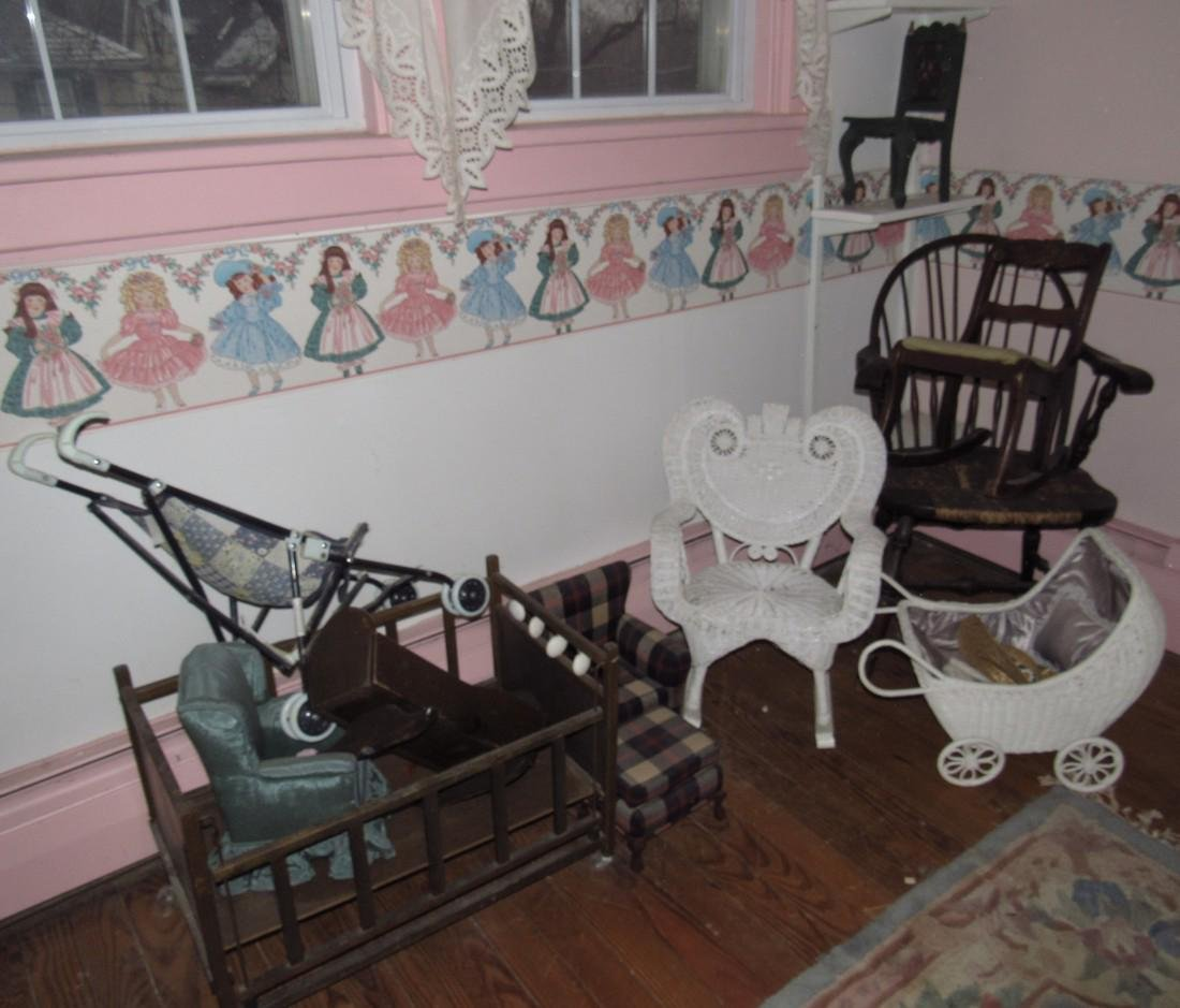 Doll Furniture Crib Chairs Strollers