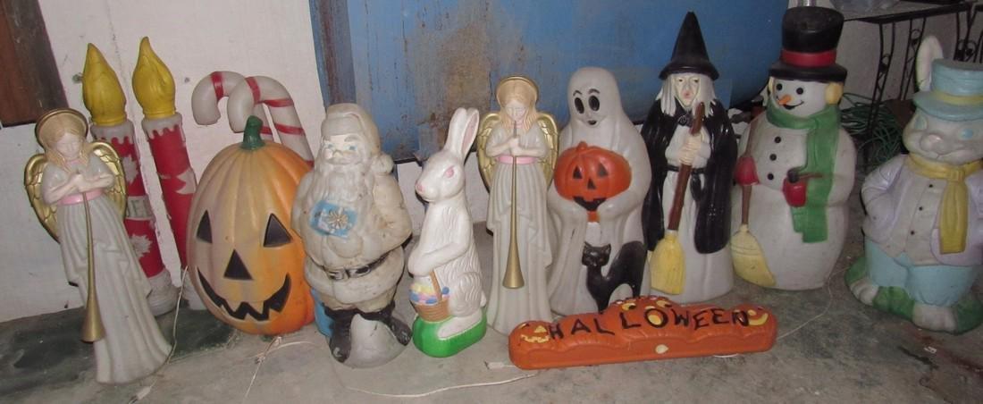 Christmas Halloween Easter Blow Molds