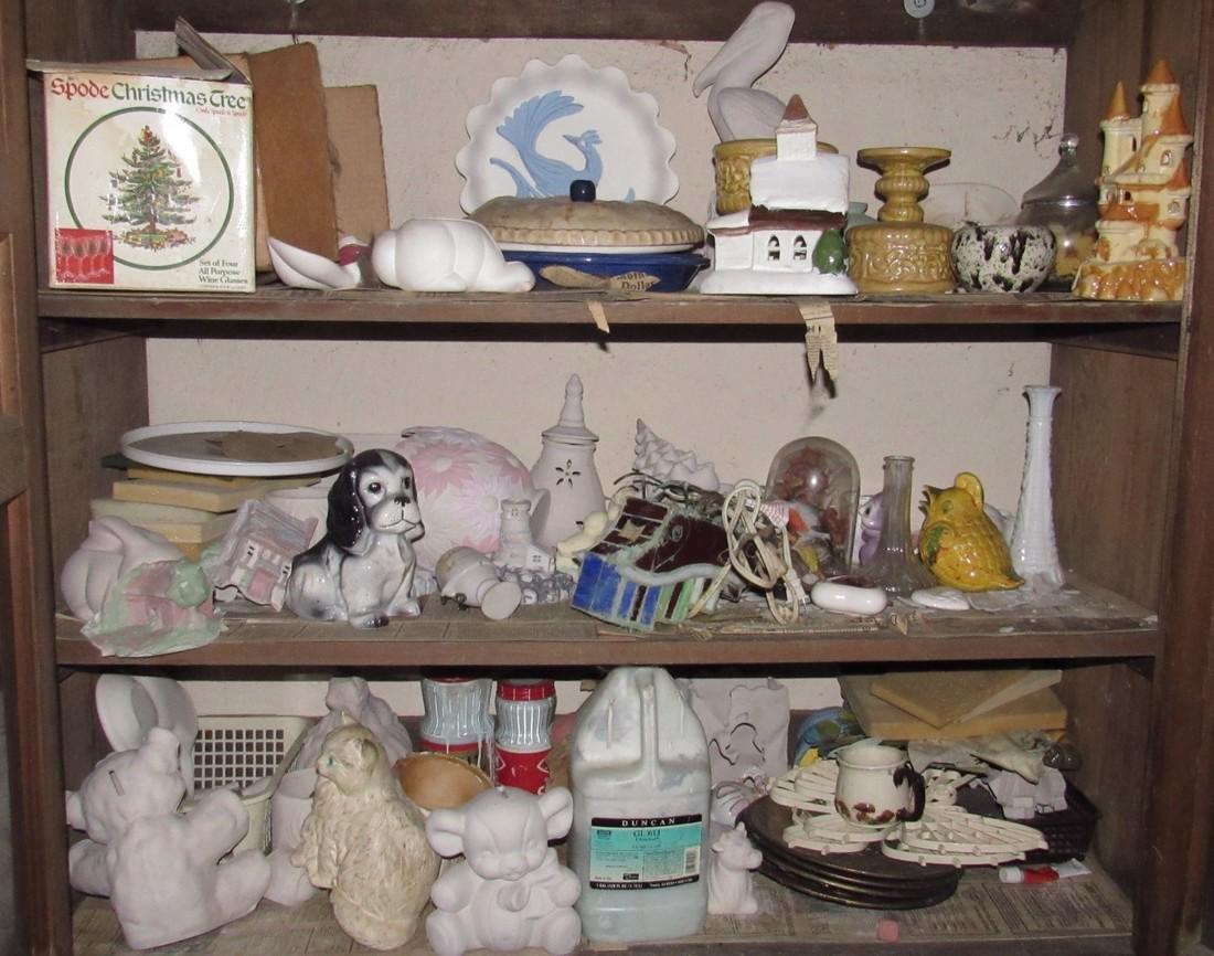 Ceramics & Misc Cabinet Lot