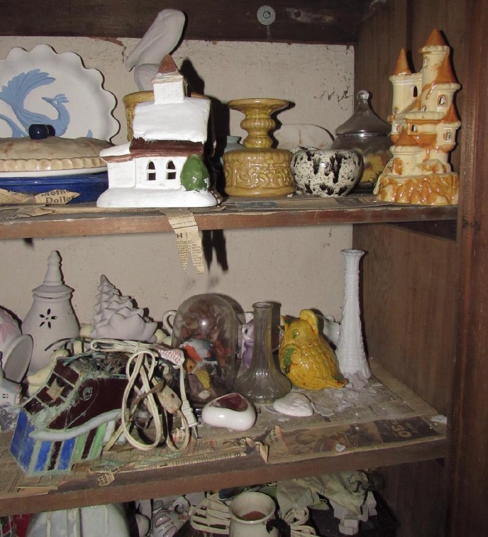 Ceramics & Misc Cabinet Lot - 2