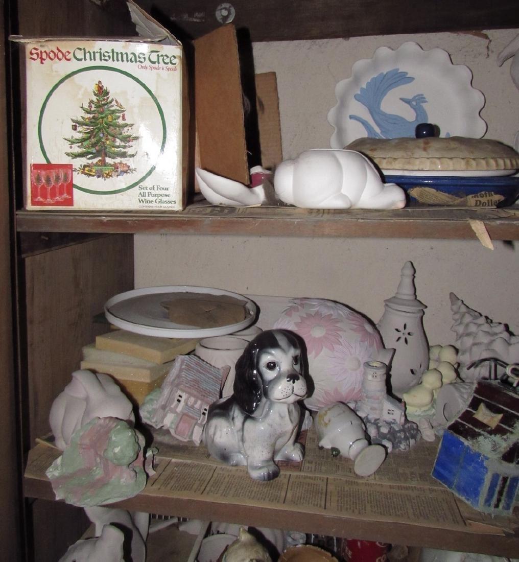 Ceramics & Misc Cabinet Lot - 3