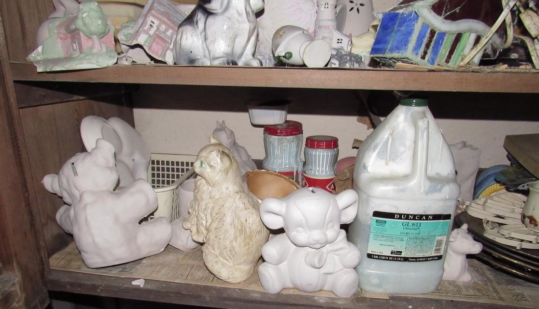 Ceramics & Misc Cabinet Lot - 4