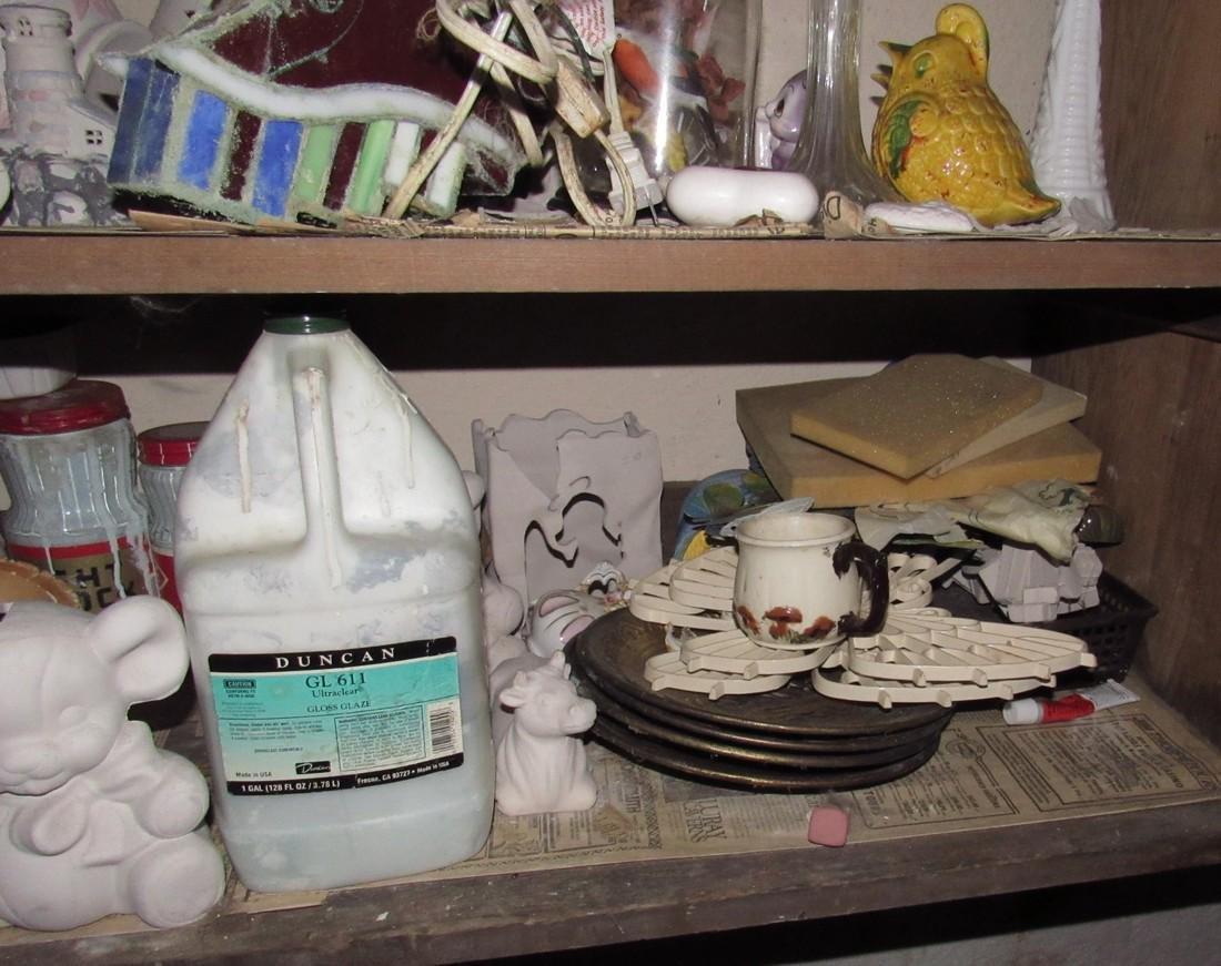 Ceramics & Misc Cabinet Lot - 5