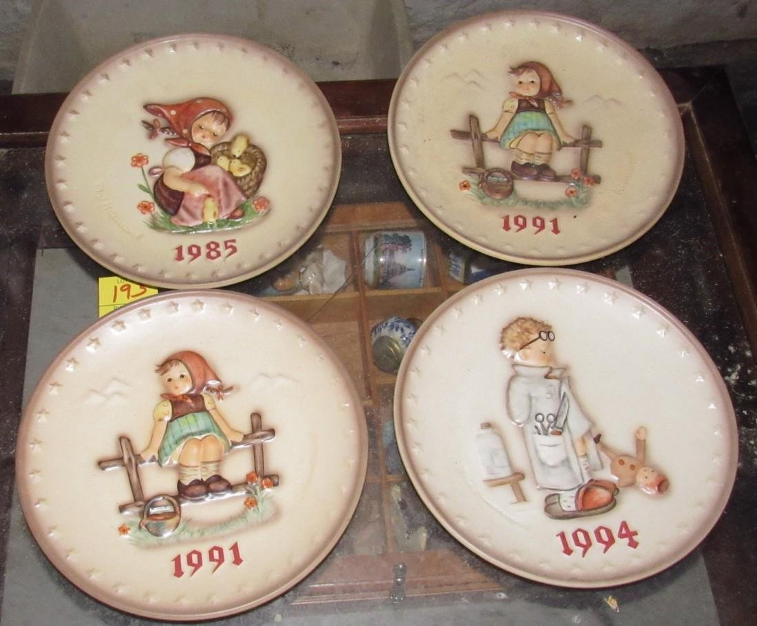 4 Hummel Collector Plates