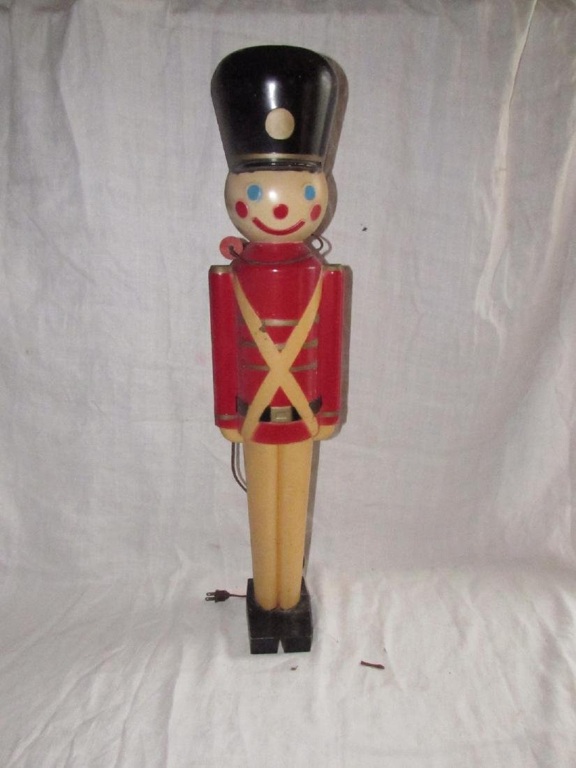 Toy Soldier Christmas Blow Mold Decoration.