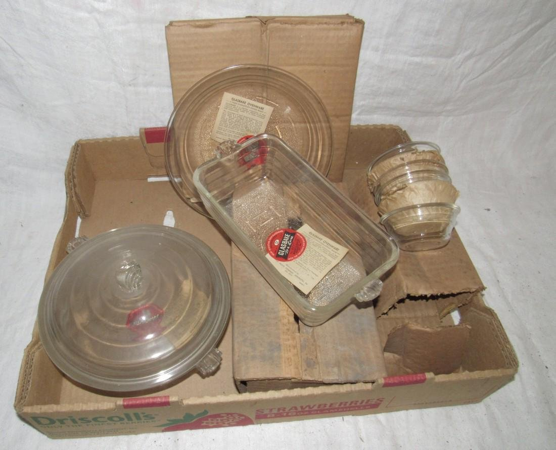 New Old Stock Glasbake Bakeware