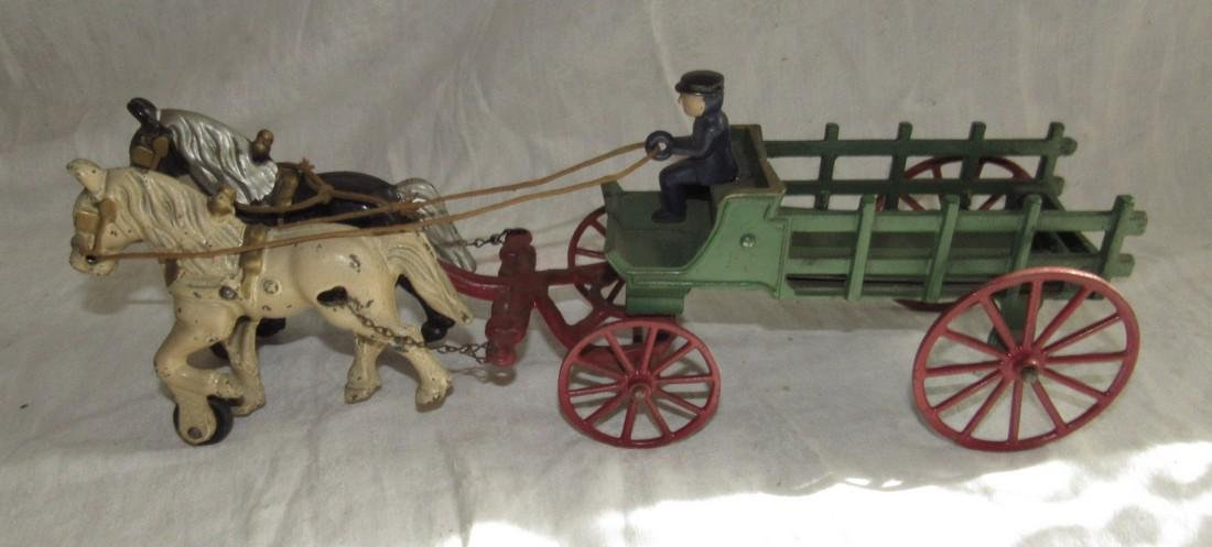 Cast Iron Horse & Wagon