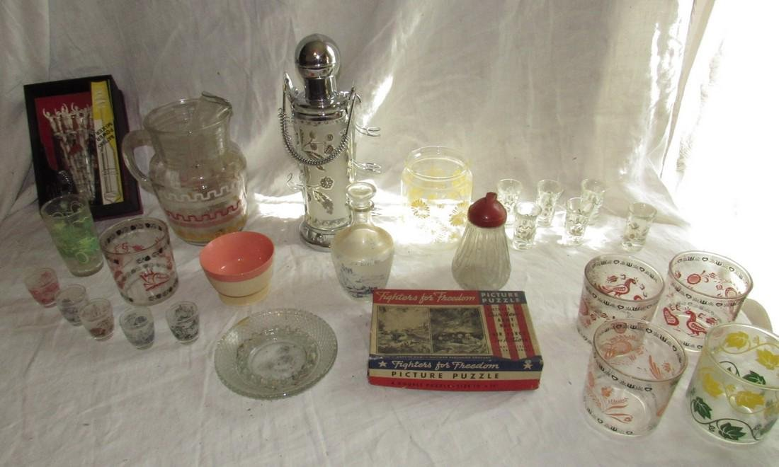 Vintage Glassware Pitchers Glasses