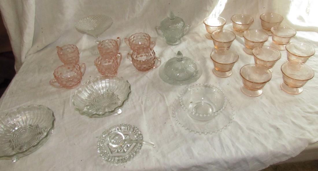 Depression Glass & misc Glassware