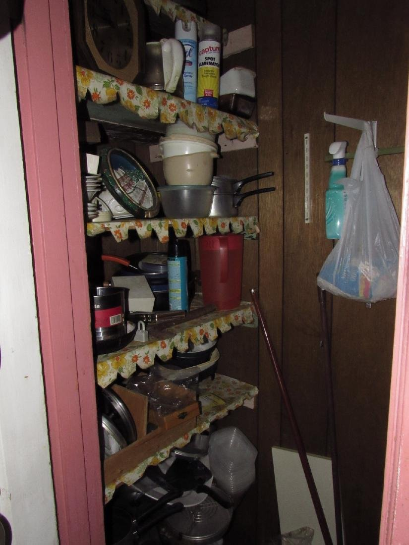 Contents of Kitchen Closet