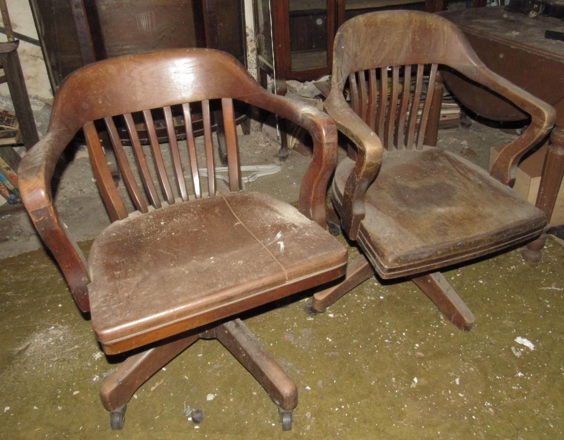 2 Oak Desk Chairs