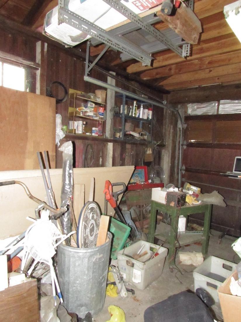 Car Parts Tools Left side Garage Contents
