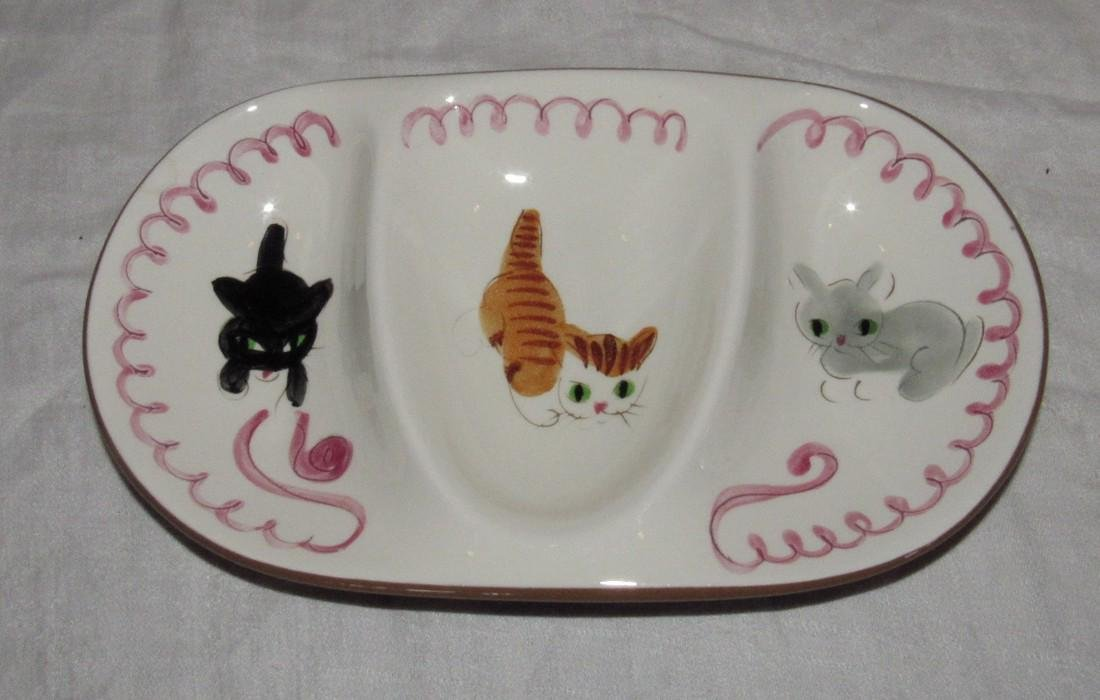 Stangl Cats Divided Dish